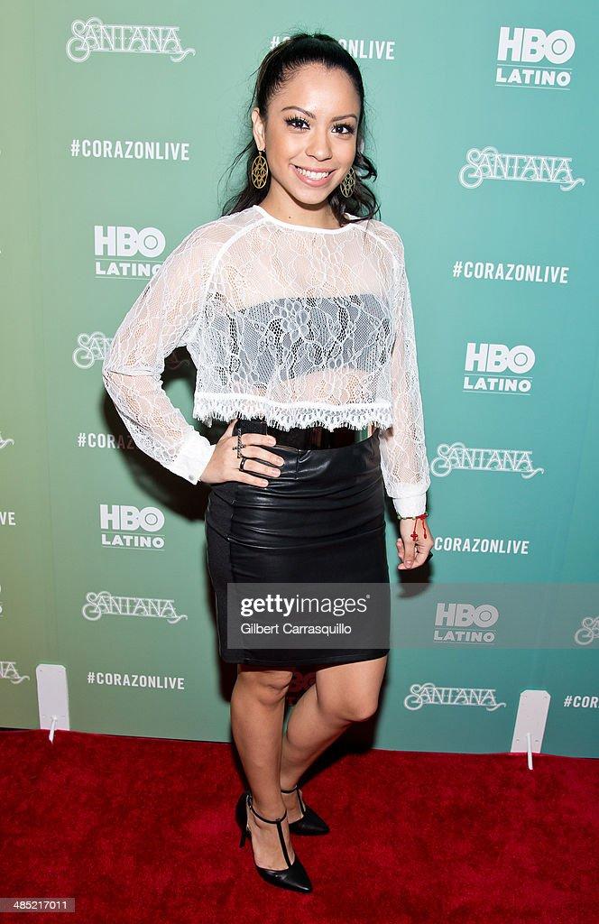 Kelli Jazz attends the 'Santana De Corazon' screening at The Hudson Theatre on April 16, 2014 in New York City.