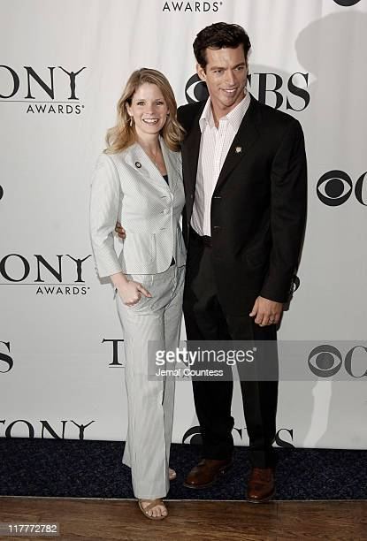 Kelli O'Hara and Harry Connick Jr during 60th Annual Tony Awards 'Meet The Nominees' Press Reception at The View at The Marriot Marquis in New York...