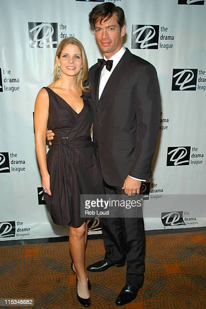 Kelli O'Hara and Harry Connick Jr during So In Love A Night of Romance February 13 2006 at Rainbow Room in New York City New York United States