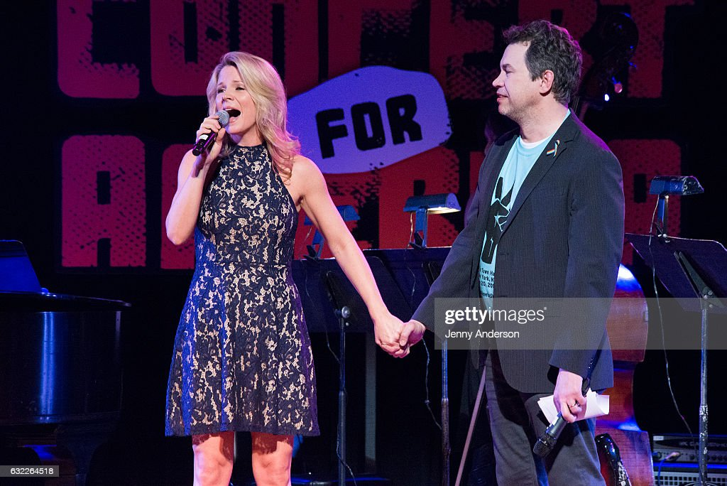 Kelli O'Hara and James Wesley perform during Concert For America: Stand Up, Sing Out! at Town Hall on January 20, 2017 in New York City.