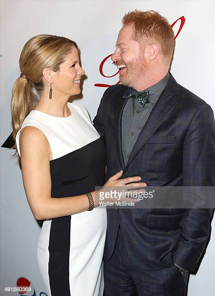 Kelli O'Hara and Jesse Tyler Ferguson attend the 80th Annual Drama League Awards Ceremony and Luncheon at Marriot Marquis Times Square on May 16 2014...