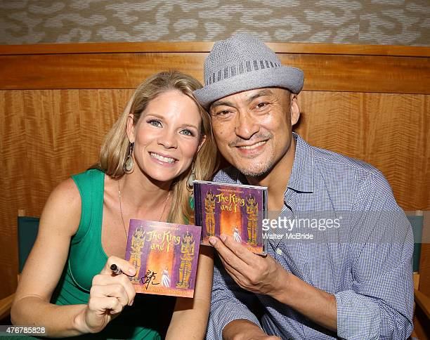 Kelli O'Hara and Ken Watanabe from the revival of Rodgers and Hammerstein's 'The King and I' celebrate the musical's new Broadway cast recording with...