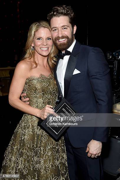 Kelli O'Hara and Matthew Morrison attend the 2015 Tony Awards at Radio City Music Hall on June 7 2015 in New York City