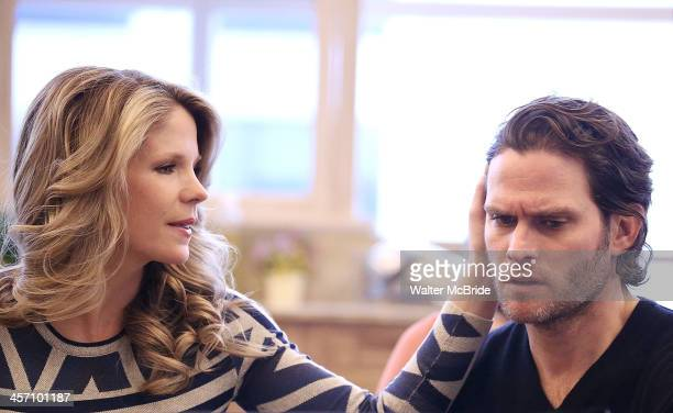 Kelli O'Hara and Steven Pasquale perform during the 'The Bridges of Madison County' media day at The New 42nd Street Studios on December 16 2013 in...