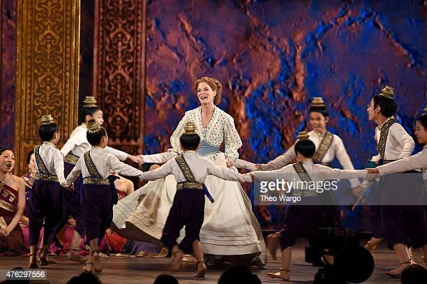 Kelli O'Hara and the cast of the King and I perform onstage at the 2015 Tony Awards at Radio City Music Hall on June 7 2015 in New York City