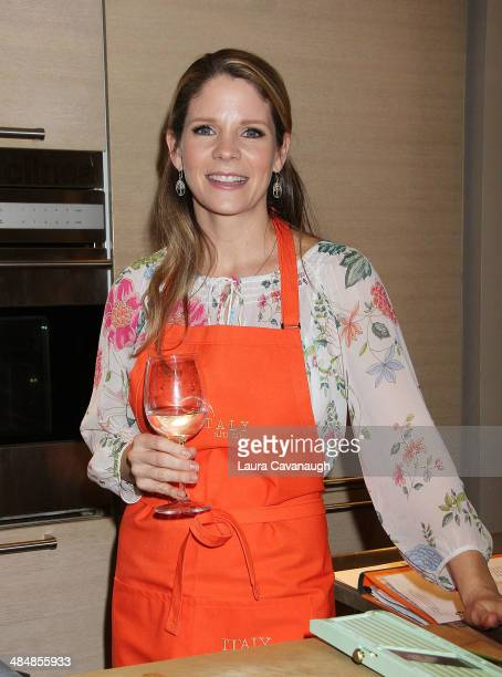 Kelli O'Hara attends a special cooking demonstration at Eataly on April 14 2014 in New York City