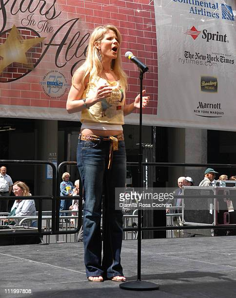 Kelli O'Hara during 19th Annual Broadway's Stars in the Alley at Shubert Alley in New York City New York United States