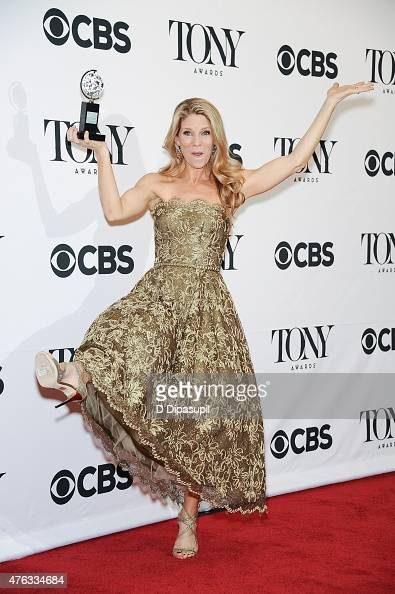 Kelli O'Hara poses in the press room during the American Theatre Wing's 69th Annual Tony Awards at Radio City Music Hall on June 7 2015 in New York...