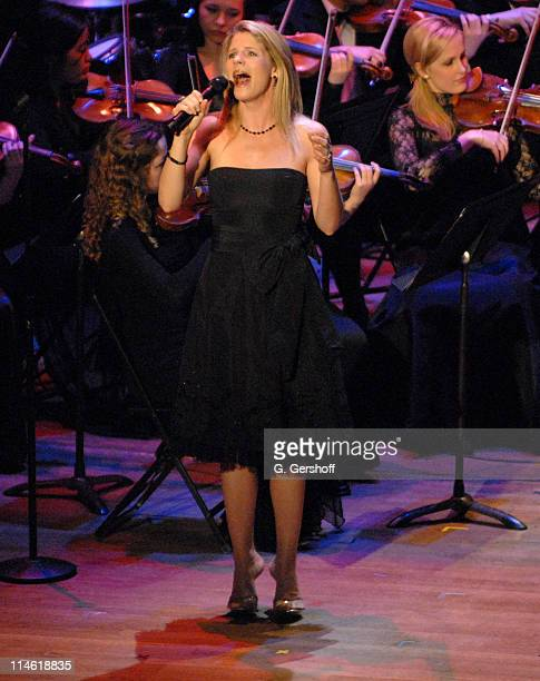 Kelli O'Hara Soprano during 'Good Night Alice' Cocktail Party and Gala Concert April 30 2007 at Alice Tully Hall in New York City New York United...