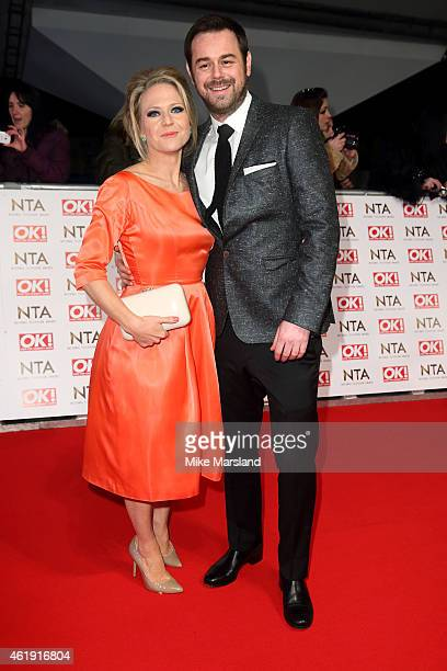 Kellie Bright and Danny Dyer attend the National Television Awards at 02 Arena on January 21 2015 in London England