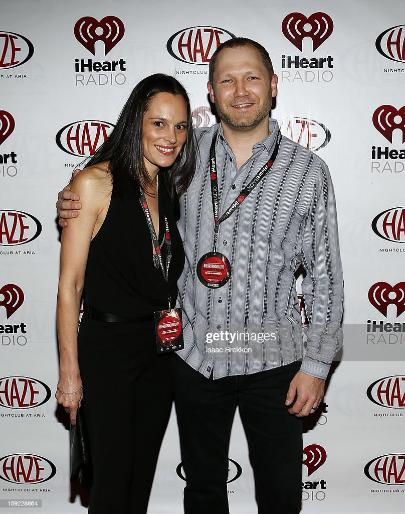 Kellie Lakamp, (L) and Clear Channel President, Digital at Clear Channel Media and Entertainment Brian Lakamp arrive at the iHeartRadio CES exclusive party featuring a live performance by Ke$ha at Haze Nightclub at the Aria Resort & Casino at CityCenter on January 9, 2013 in Las Vegas, Nevada.