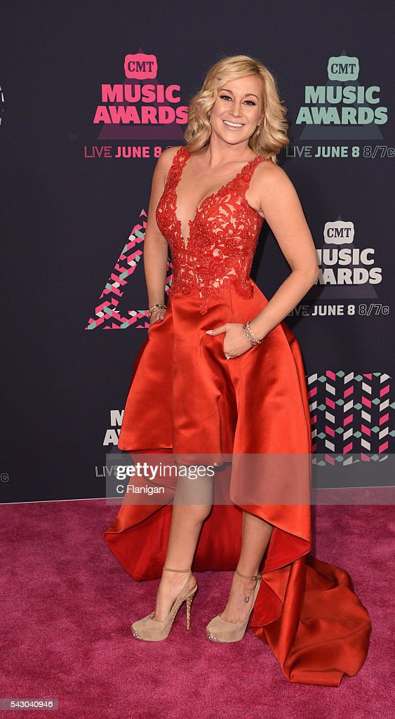 Kellie Pickler attends the 2016 CMT Music awards at the Bridgestone Arena on June 8 2016 in Nashville Tennessee