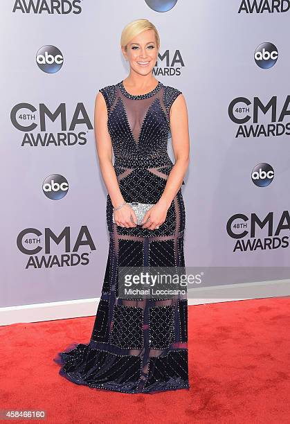 Kellie Pickler attends the 48th annual CMA Awards at the Bridgestone Arena on November 5 2014 in Nashville Tennessee