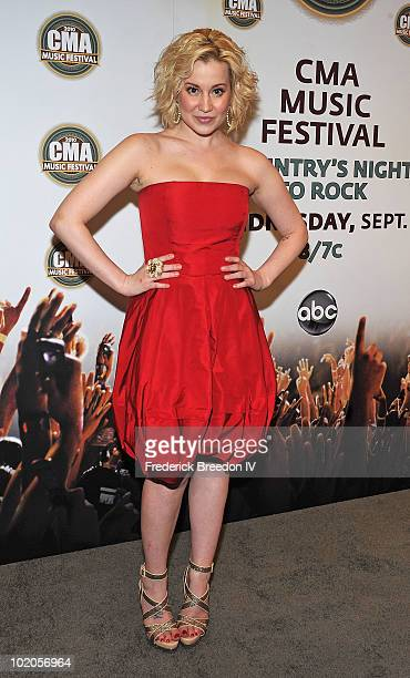 Kellie Pickler attends the press conference at LP Field during the 2010 CMA Music Festival on June 13 2010 in Nashville Tennessee