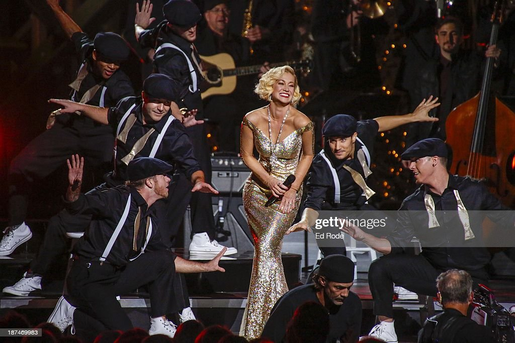 <a gi-track='captionPersonalityLinkClicked' href=/galleries/search?phrase=Kellie+Pickler&family=editorial&specificpeople=600021 ng-click='$event.stopPropagation()'>Kellie Pickler</a> performs during the CMA 2013 Country Christmas on November 8, 2013 in Nashville, Tennessee.