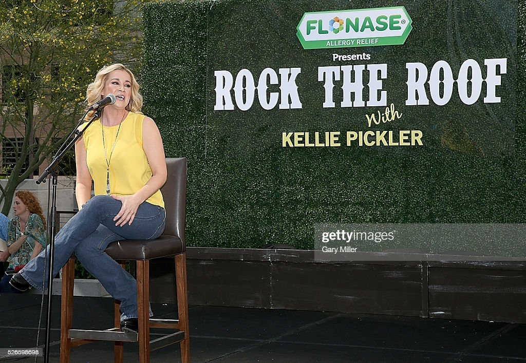 Kellie Pickler performs in concert during the Flonaise Rock the Roof event at the JW Marriott Hotel on April 30, 2016 in Austin, Texas.