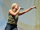Kellie Pickler performs on the Chevy Riverfront Stage at the 2014 CMA Festival on June 6 2014 in Nashville Tennessee