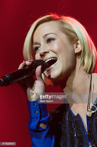 Kellie Pickler plays the Black River show at CRS 2014 on February 21 2014 at the in Nashville Tennessee