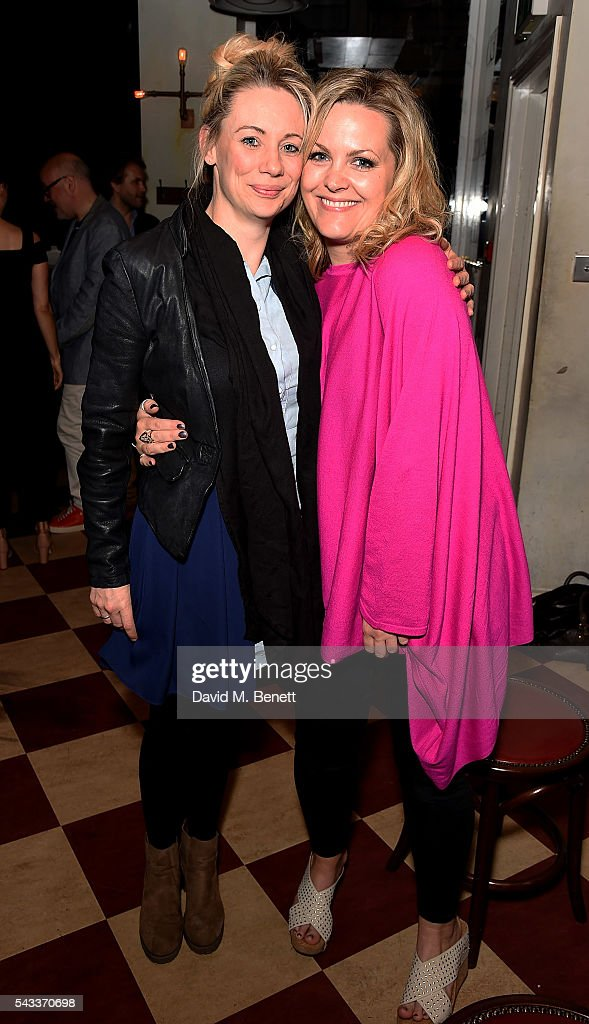 Kellie Shirley and Jo Joyner attend the after party of 'The Truth' at Polpo At The Ape and Bird on June 27, 2016 in London, England.