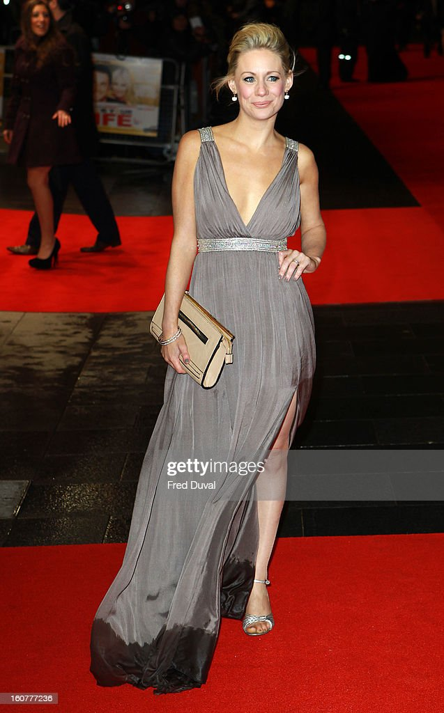 Kellie Shirley attends the premiere of 'Run For Your Wife' at Odeon Leicester Square on February 5, 2013 in London, England.