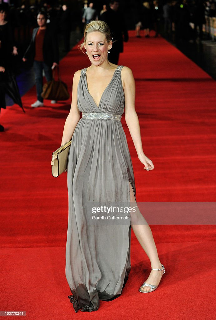 Kellie Shirley attends the UK Premiere of 'Run For Your Wife' at Odeon Leicester Square on February 5 2013 in London England