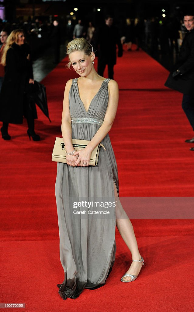 Kellie Shirley attends the UK Premiere of 'Run For Your Wife' at Odeon Leicester Square on February 5, 2013 in London, England.