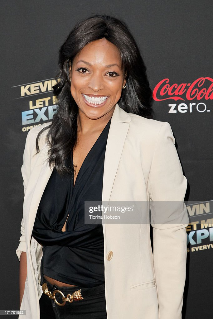 <a gi-track='captionPersonalityLinkClicked' href=/galleries/search?phrase=Kellita+Smith&family=editorial&specificpeople=228025 ng-click='$event.stopPropagation()'>Kellita Smith</a> attends the 'Kevin Hart: Let Me Explain' Los Angeles premiere at Regal Cinemas L.A. Live on June 27, 2013 in Los Angeles, California.