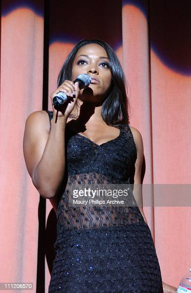 Kellita Smith hosts the O'Jays concert during Black Music Month Concert Featuring 'The Legendary O'Jays' at The Wiltern Theatre in Los Angeles...