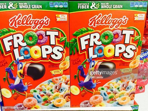 Kellogg's Froot loops cereal box