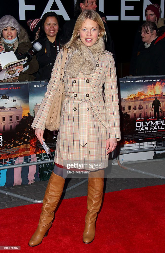 Kelly Adams attends the UK Premiere of 'Olympus Has Fallen' at BFI IMAX on April 3, 2013 in London, England.