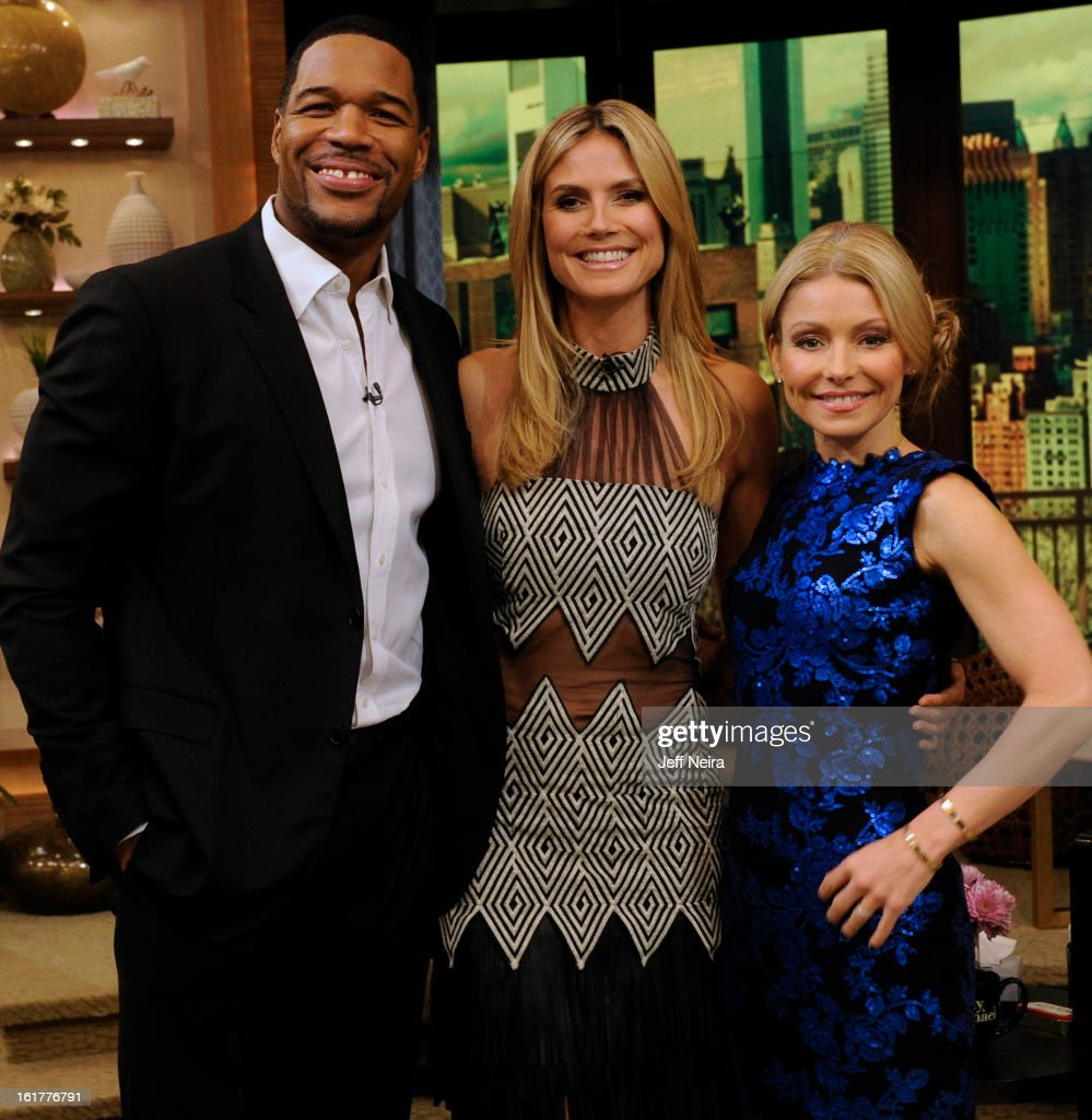 MICHAEL - 2/15/13 - Kelly and Michael interview ÒProject RunwayÓ host HEIDI KLUM on 'LIVE with Kelly and Michael,' distributed by Disney-ABC Domestic Television. MICHAEL
