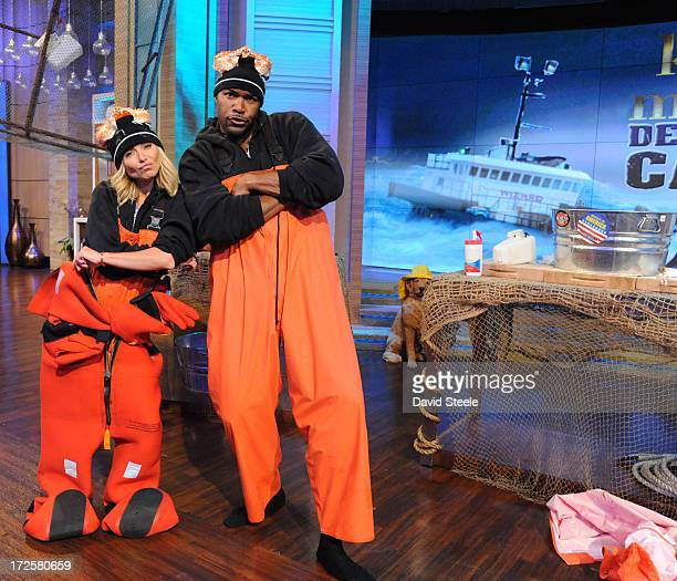 MICHAEL 7/4/13 Kelly and Michael model their Deadliest Catch gear on 'LIVE with Kelly and Michael' distributed by DisneyABC Domestic Television KELLY