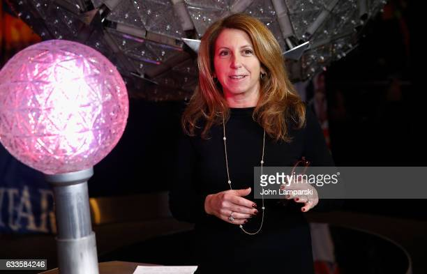 Kelly Ann Curtin from NYC and Company attends as Groundhog Staten Island Chuck unveils new interactive exhibit featuring original Times Square New...