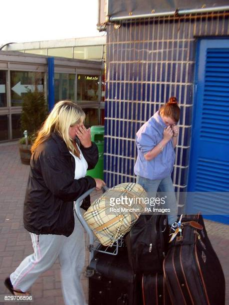 Kelly Ann Piggford's two friends leave the terminal of Durham Tees Valley Airport Lisa Riding and her unnamed companion had just returned to the UK...