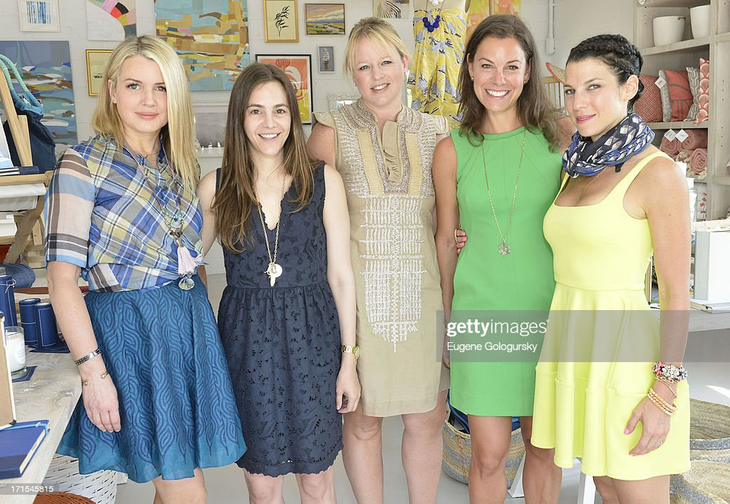 Kelly Behun Sugarman, Marcie Pantzer, Candice Postel, Serena Dugan and <a gi-track='captionPersonalityLinkClicked' href=/galleries/search?phrase=Jessica+Seinfeld&family=editorial&specificpeople=206558 ng-click='$event.stopPropagation()'>Jessica Seinfeld</a> attend the Serena & Lily Host Private Shopping Event to Benefit Baby Buggy at Its Hamptons Store on June 26, 2013 in Wainscott, New York.