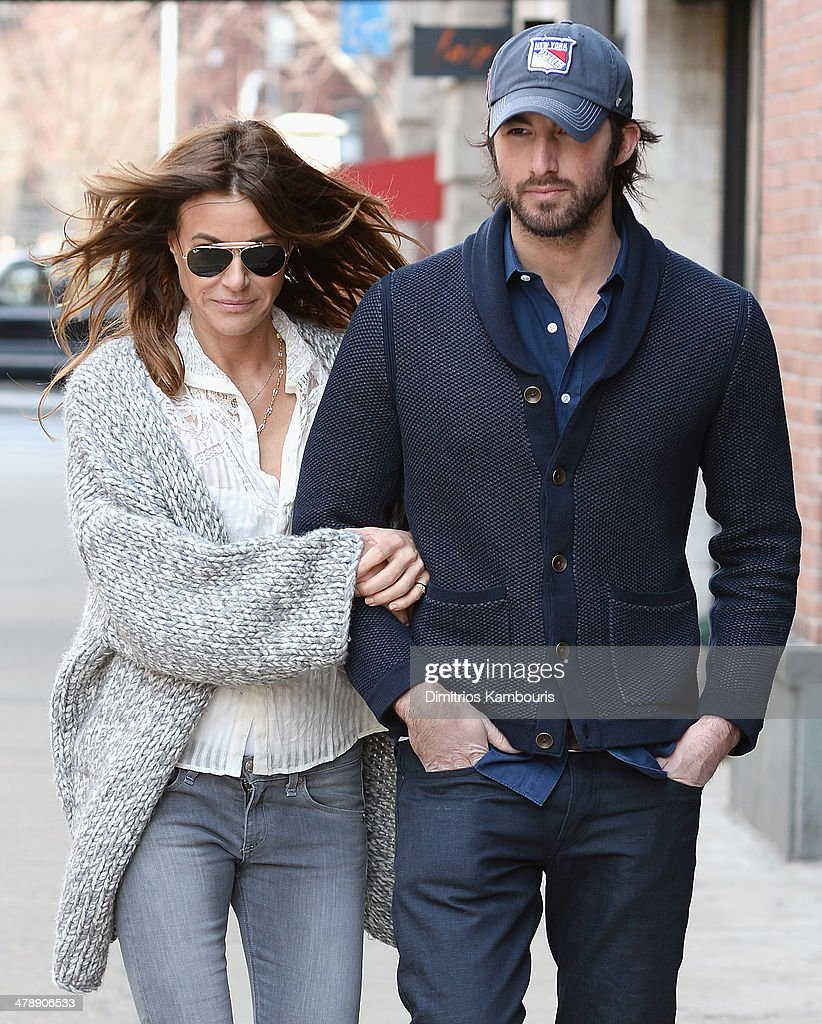 Kelly Bensimon and Alejandro Lorenzo sighting in New York City on March 15 2014 in New York City