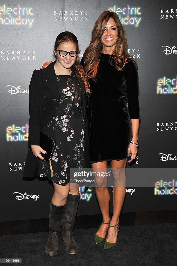 Kelly Bensimon (R) and daughter attend Barneys New York And Disney Electric Holiday Window Unveiling Hosted By Sarah Jessica Parker, Bob Iger, And Mark Lee on November 14, 2012 in New York City.