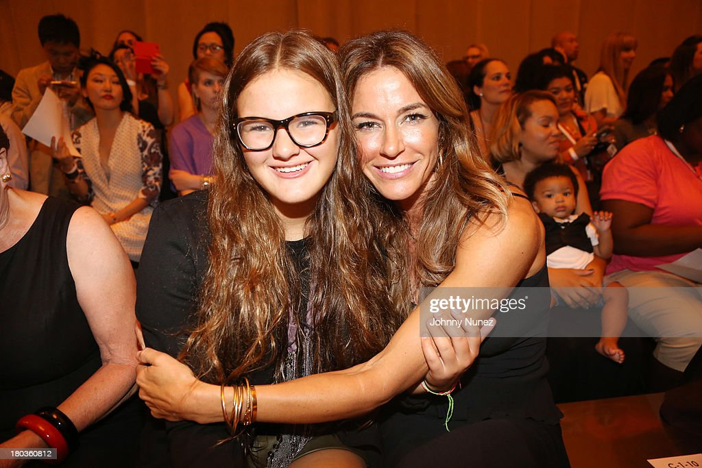 Kelly Bensimon (r) and daughter Sea Louise Bensimon attend the Kids Rock! Celebrity Fashion Show at Grand Central Terminal on September 11, 2013 in New York City.