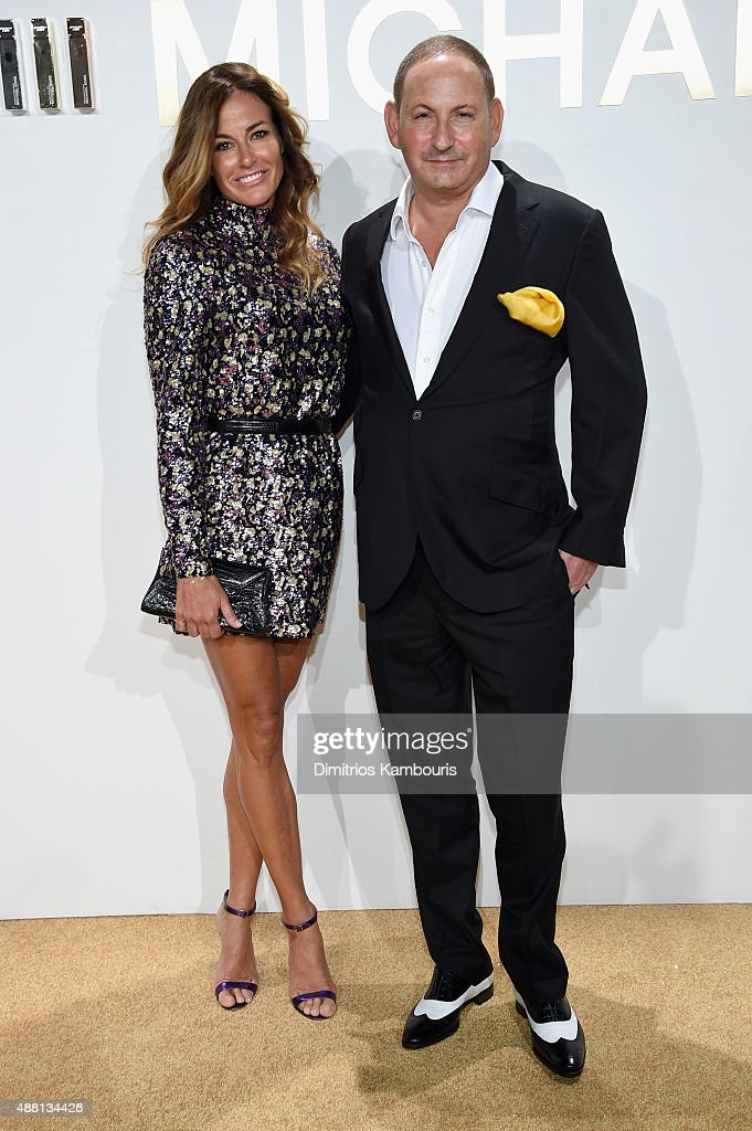 Kelly Bensimon and Group President of The Estée Lauder Companies Inc John Demsey attend the new Gold Collection fragrance launch hosted by Michael...