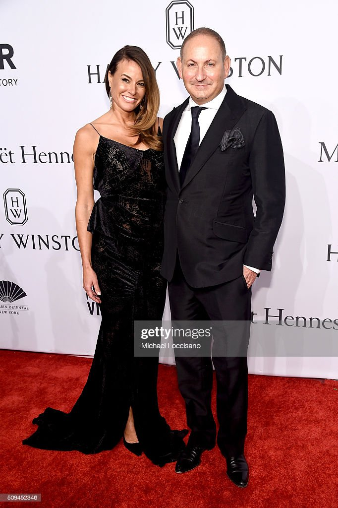 Kelly Bensimon and John Demsey attend the 2016 amfAR New York Gala at Cipriani Wall Street on February 10 2016 in New York City