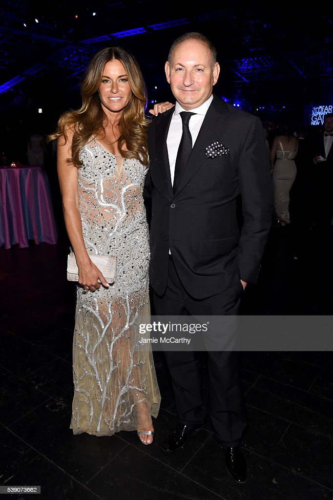 Kelly Bensimon and John Demsey attend the 7th Annual amfAR Inspiration Gala at Skylight at Moynihan Station on June 9 2016 in New York City