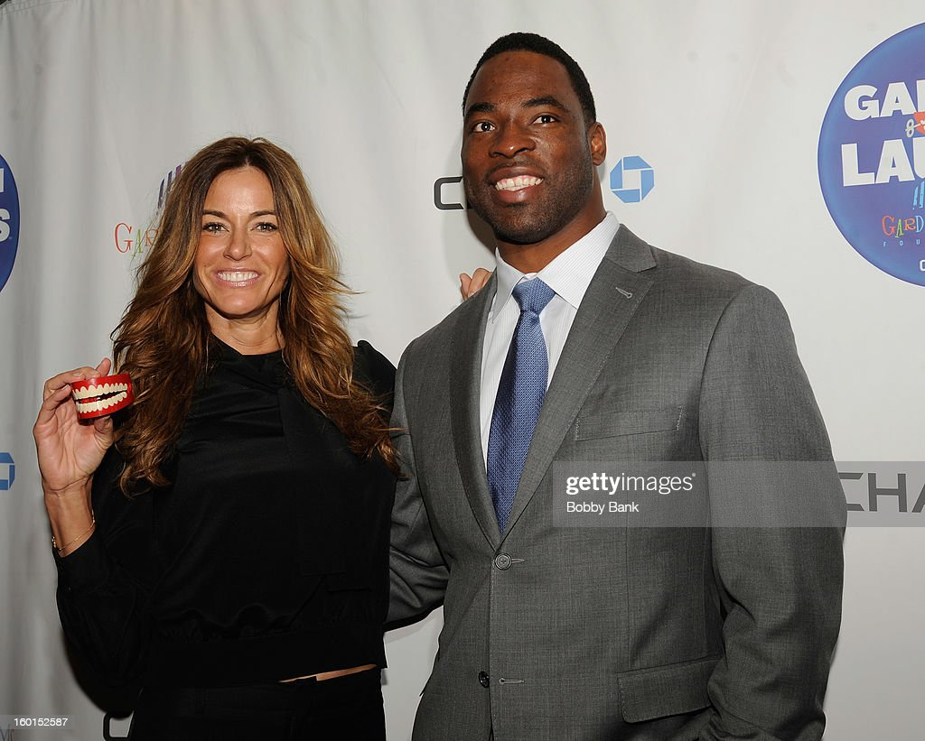 Kelly Bensimon and Justin Tuck attends 'Garden Of Laughs' Benefit at Madison Square Garden on January 26, 2013 in New York City.