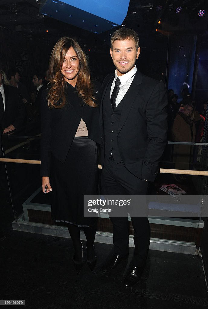 Kelly Bensimon and Kellan Lutz attend the screening Of 'The Twilight Saga: Breaking Dawn Part 2' hosted by The Cinema Society with The Hollywood Reporter & Samsung Galaxy on November 15, 2012 in New York City.