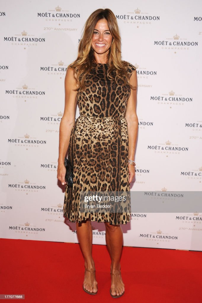 Kelly Bensimon attends Moet & Chandon Celebrates Its 270th Anniversary With New Global Brand Ambassador, International Tennis Champion, Roger Federer at Chelsea Piers Sports Center on August 20, 2013 in New York City.