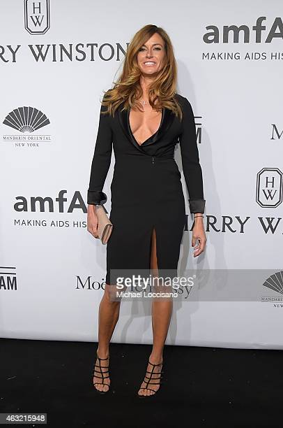 Kelly Bensimon attends the 2015 amfAR New York Gala at Cipriani Wall Street on February 11 2015 in New York City