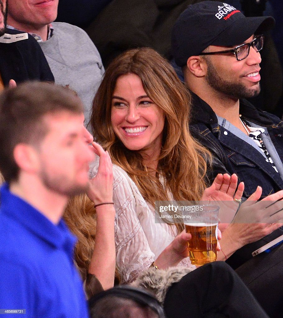 Kelly Bensimon attends the Boston Celtics vs New York Knicks game at Madison Square Garden on January 28, 2014 in New York City.