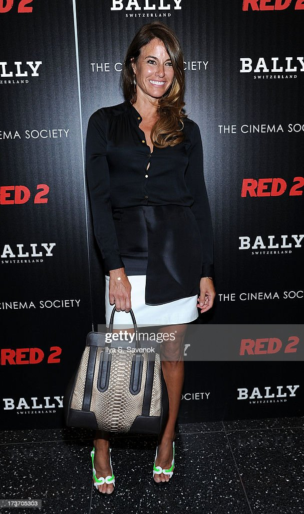 Kelly Bensimon attends The Cinema Society And Bally Host A Screening Of Summit Entertainment's 'Red 2' at The Museum of Modern Art on July 16, 2013 in New York City.