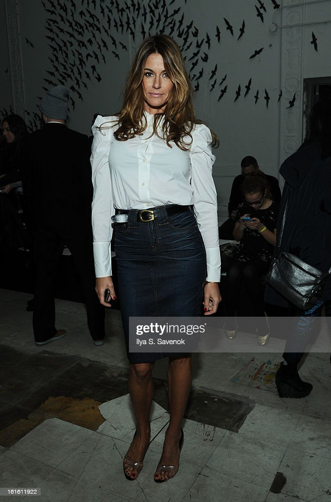 Kelly Bensimon attends the Michael Bastian fall 2013 fashion show during Mercedes-Benz Fashion Week on February 12, 2013 in New York City.