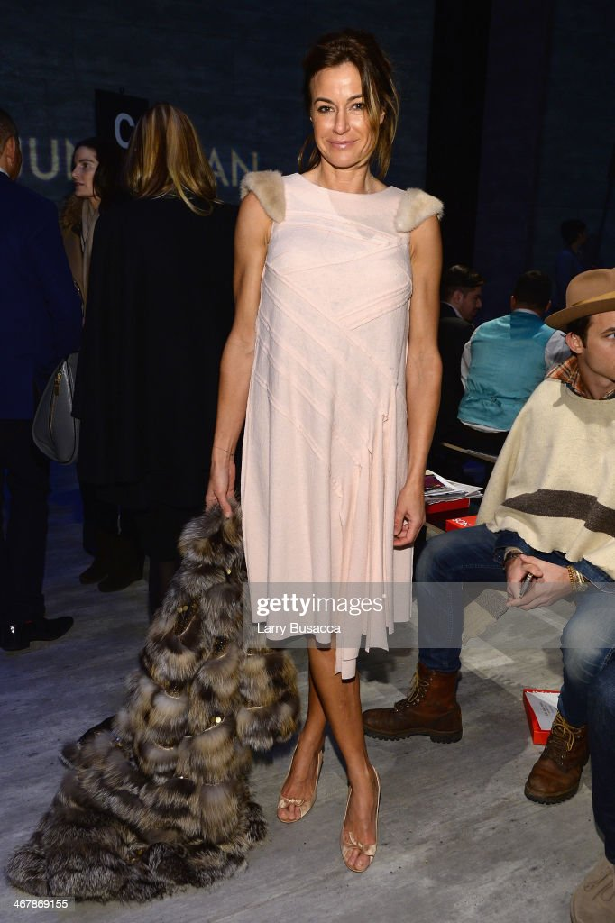 Kelly Bensimon attends the Son Jung Wan fashion show during MercedesBenz Fashion Week Fall 2014 at The Pavilion at Lincoln Center on February 8 2014...