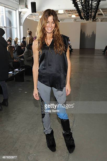 Kelly Bensimon attends the Tess Giberson fashion show during MercedesBenz Fashion Week Fall 2014 at Pier 59 on February 7 2014 in New York City